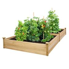 Greenes Fence 4 Ft X 8 Ft X 10 5 In Unfinished 0 5 In To 0 625 In T Value Cedar Raised Garden Bed Rcec6t21b The Home Depot Cedar Raised Garden Vegetable Garden