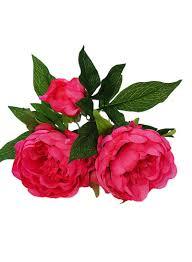 تسوق بلولانز و3 زهرات من زهور الفاوانيا الصناعية وردة حمراء