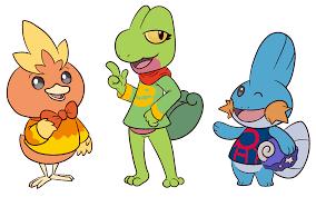 Pokemon Crossing Gen 3 Starters by Sloth-Power on DeviantArt