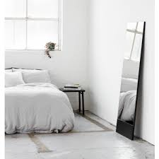 mira leaner floor mirror coal black