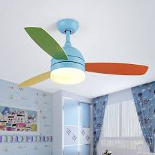 Kids Room Led Macaroon Style 3 Blade 16 54 Inch Blue Kids Ceiling Fan In Blue Pink Beautifulhalo Com