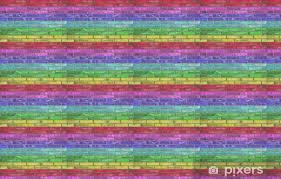 rainbow brick wallpaper pixers we