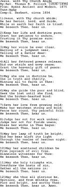 Methodist Hymn Jesus With Thy Church Abide Lyrics With Pdf