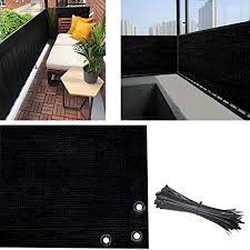 Amazon Com Balcony Privacy Screen Fence Cover 3 5ft X16 5ft Privacy Screen Uv Resistant Visibility Reduction Fence Screen For Balcony Apartment Backyard Patio Porch Garden Include Cable Ties Black Garden Outdoor