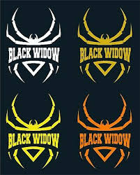 Black Widow 3 Car Window Decal 2 For 1 Price Pick Your Size Color Ebay