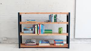 diy bookcase out of angle irons