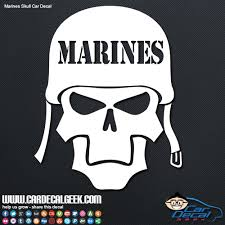 Marines Skull Helmet Car Window Decal Sticker Military Decals