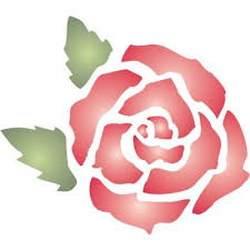 images of free printable rose stencil