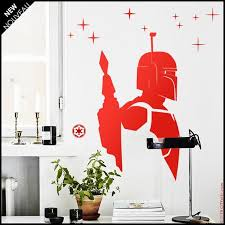 Star Wars Wall Decal Boba Fett Bounty Hunter Silhouette Etsy