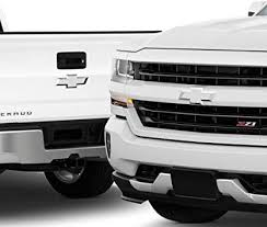 Amazon Com Bogar Tech Designs Pre Cut Emblem Bowties Front And Back Overlay Vinyl Decal Compatible With Chevy Silverado 2016 2018 Matte White Arts Crafts Sewing
