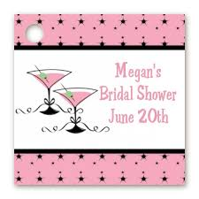 bridal shower favor tags martini