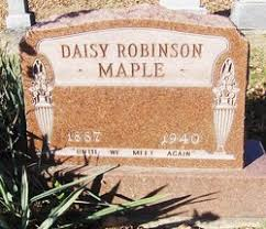 Daisy Adeline Robinson Maple (1887-1940) - Find A Grave Memorial