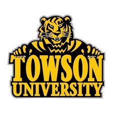 Towson Tigers B Die Cut Decal 4 Sizes 6144