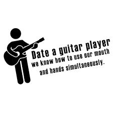 Funny Date A Guitar Player Vinyl Sticker Car Decal