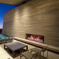 focus 130 ribbon outdoor gas fireplace