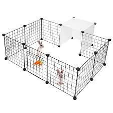 14 Pannels Pet Dog Playpen Small Animal Cage Indoor Portable Metal Wire Yard Fence For Small Animals Size Of Each Panel 14 X 14 Walmart Canada