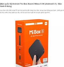 Android Tivi Box Xiaomi Mibox S 4K Global Quốc Tế (Android 8.1) - Bảo hành 6  tháng