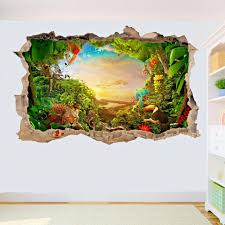 Jungle Safari Animals Wall Stickers Decals Kids Nursery Baby Room Decorybw For Sale Online Ebay