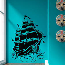 Pirate Ship Wall Stickers Kids Bedroom Vinyl Removable Home Decor Wall Decals Creative Stickers Kids Bedroom Bajby Com Is The Leading Kids Clothes Toddlers Clothes And Baby Clothes Store