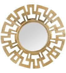 inch antique gold wall mirror greek key