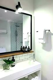 wooden bathroom mirror