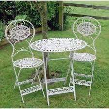 cream garden furniture bistro set