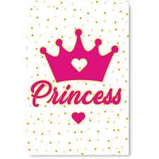Awkward Styles Baby Girl Room Decor Princess Crown Illustration Girls Room Wall Art Pink Decals Baby Girl Room Decorations Princess S Room Girls Play Room Wall Decor Pink Poster Decor Ideas Walmart Com