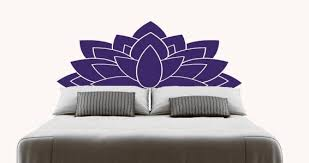 Lotus Headboard Wall Decal Dezign With A Z