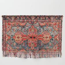 kashan poshti central persian rug print