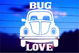Bug Love Vw Car Decal Sticker