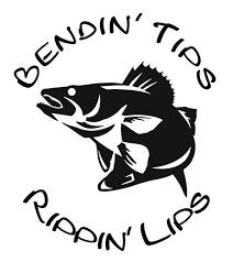 Bendin Tips Rippin Lips Walleye Fishing Window Wall Decal Boat Trailer Truck Tackle Box Lake River Walleye Fishing Fishing Decals Fishing Svg