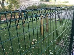 Green Roll Top Fence Is Installed In Playground To Protect Children S Safety Wire Mesh Fence Welded Wire Fence Mesh Fencing