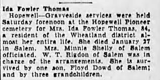 Obituary for Ida Fowler Thorn - Newspapers.com