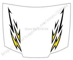 Drop Shipping New Car Styling Totem Thunder Car Full Body Stickers Hood Decals Yellow Decal Sticker Sticker Decaldecals Iphone Aliexpress