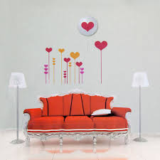Love Heart Diy Removable Wall Sticker 3d Led Wall Lamp Night Light Vinyl Decal Valentine S Day Gift Walmart Com Walmart Com
