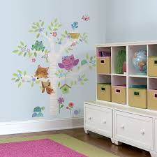 Shop Roommates Woodland Baby Birch Tree Peel And Stick Giant Wall Decals Overstock 10094700