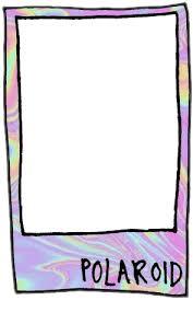 pastel frame pink polaroid png