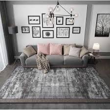 Nordic Solid Grey Big Carpet Modern Living Room Simple Plain Coffee Table Area Rug Bedroom Kidsroom Full Carpet Black Blue White Carpet Aliexpress