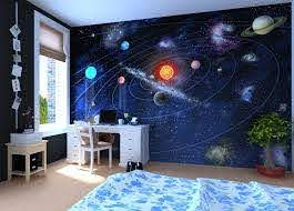 Solar System Wall Mural Wallpaper Photowall Home Decor Fototapet Valokuvatapetit Space Themed Bedroom Outer Space Bedroom Decor Outer Space Bedroom