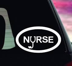 Nurse Bumper Sticker Nurse Vinyl Decal Nurse Car Decal Etsy