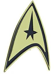 Amazon Com St Starfleet Insignia Logo Plastic Auto Emblem Silver 2 1 4 X 3 1 4 Automotive