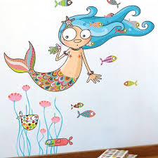 Adzif Ludo The Mermaid Wall Decal Walmart Com Walmart Com