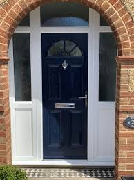 composite door with side panels and top