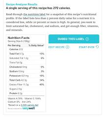recipe nutrition calculator one