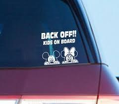 Mickey Minnie Mouse Kids On Board Auto Car Van Window Bumper Sticker Decal Gift Ebay