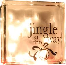Amazon Com Vinyl Decal Jingle All The Way Glass Block Vinyl Home Kitchen