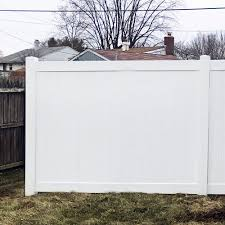Durables 6 X 6 Wendell Privacy Vinyl Fence Section W Aluminum Insert In Bottom Rail White Pwpr T G11 3 6x6