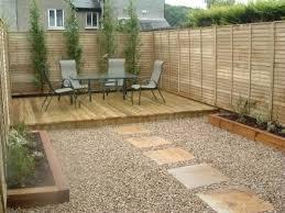 small garden paving