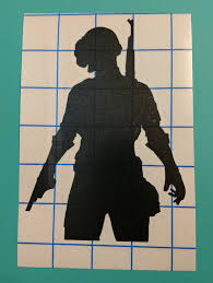 Pubg Playerunknown S Battlegrounds Silhouette Icon Vinyl Decal