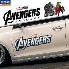 Shields Avengers Alliance 4 Car Sticker Iron Man Hulk Raytheon Captain America Car Sticker Reflective Sticker
